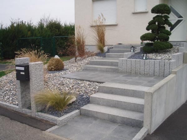 Ma onnerie paysag re escaliers pavages maxime sipp for Amenager terrasse exterieur